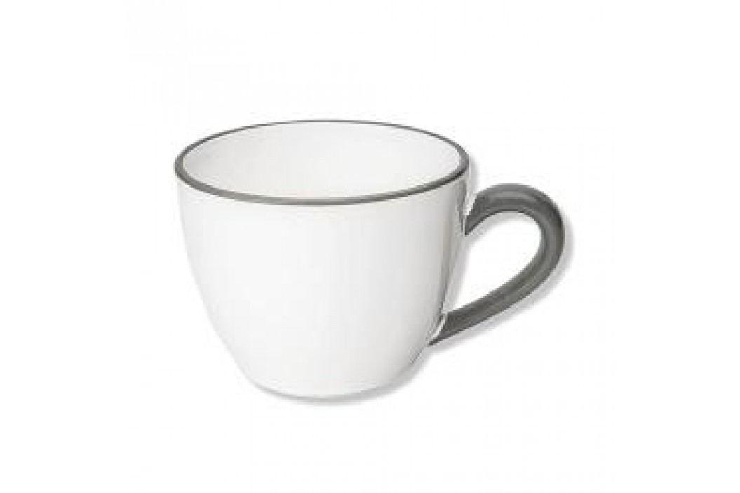Gmundner Keramik Grauer Rand Tea cup 'Maxima Gourmet' 0,4 L Tassen & Becher