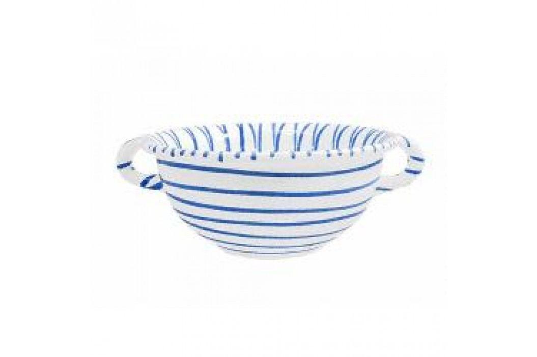Gmundner Keramik Blaugeflammt Bowl Weitling with handles 25 cm Schalen & Schüsseln