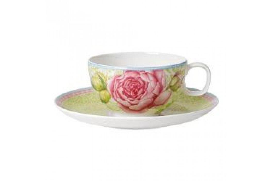 Villeroy & Boch Rose Cottage Tea cup with saucer, color: green 2 pcs Tassen & Becher