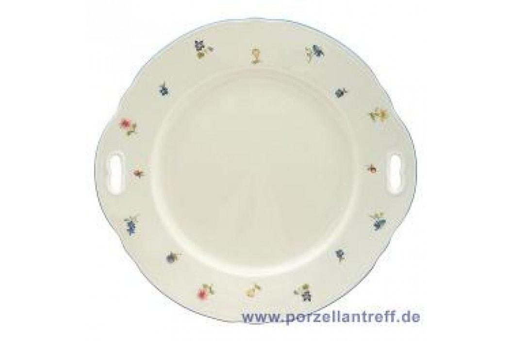 Seltmann Weiden Marie-Luise Scattered Blooms Pie Platter with Handle 27 cm Service & Geschirrsets