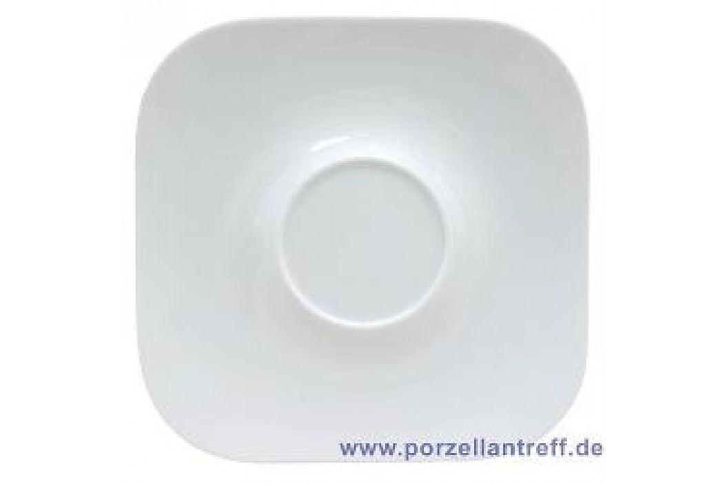 Rosenthal Studio-line Free Spirit White Café Au Lait Saucer Quadratic 19 cm Service & Geschirrsets