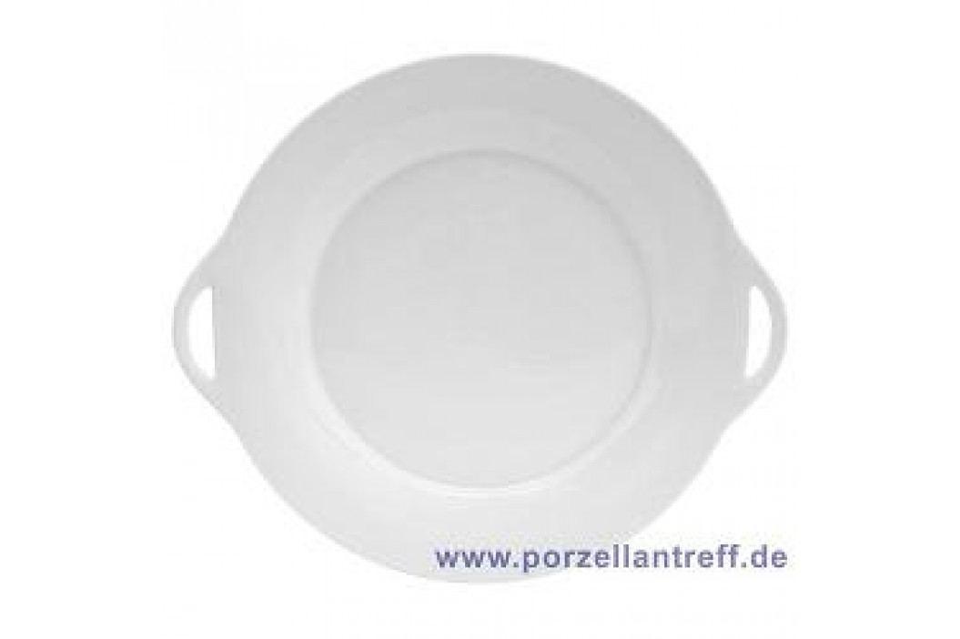 Tettau Jade White Pie Platter with Handle 28 cm Service & Geschirrsets