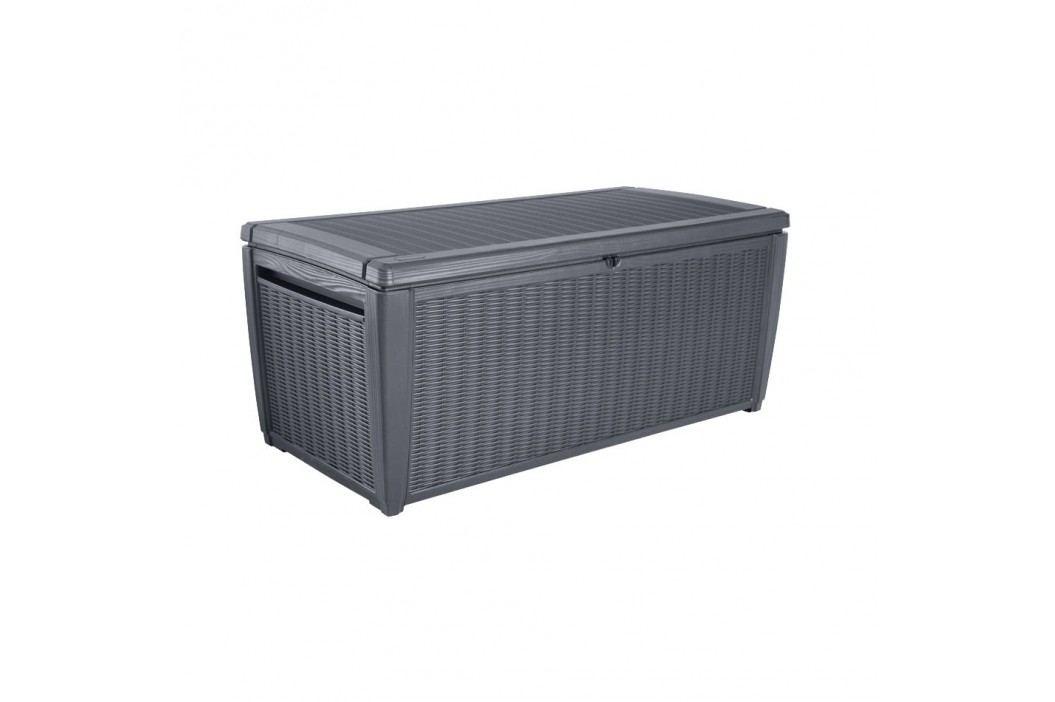 keter Sumatra Kissenbox 145x72cm aus Kunststoff in Geflechtoptik Gartenmöbel