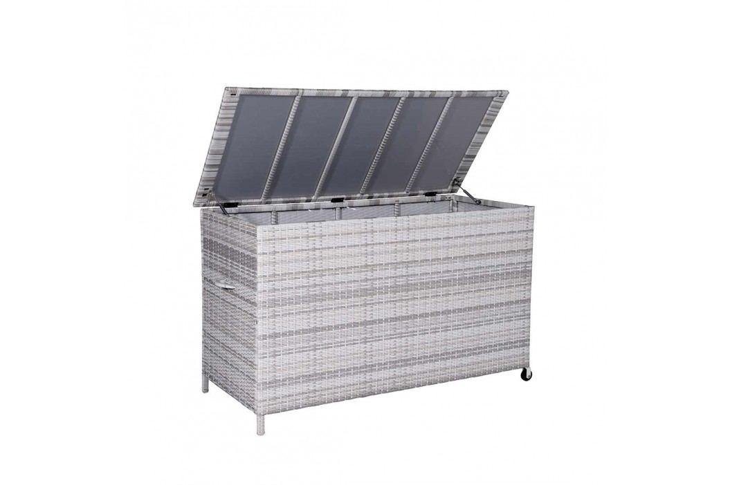 OUTLIV. York Kissenbox Geflecht 8,4mm Geflecht Cloudy Grey Gartenmöbel