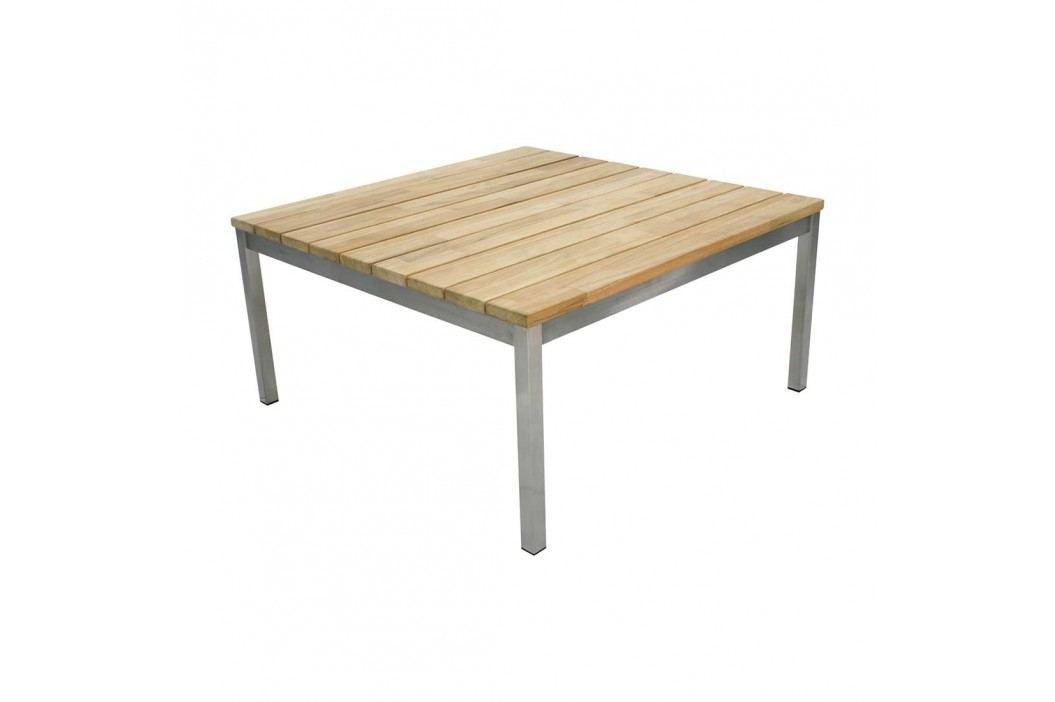 Zebra Largo Loungetisch 82,5x82,5 cm Edelstahl/Teak Natur Gartentische