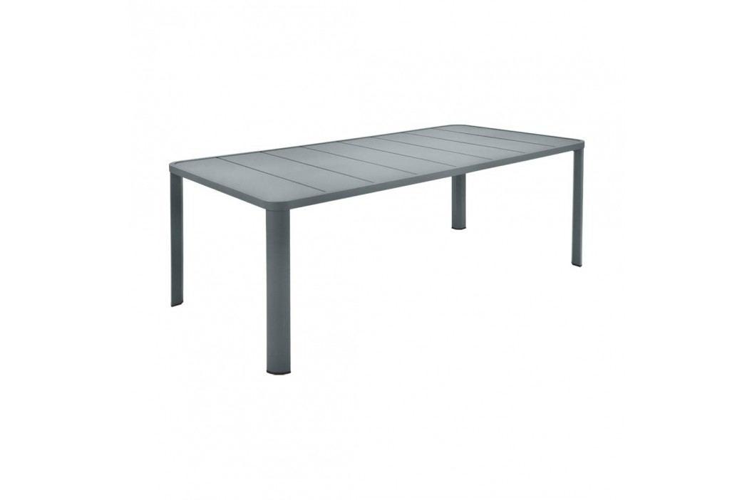 Fermob Oléron Gartentisch 205x100x74cm Aluminium Gewittergrau Gartentische