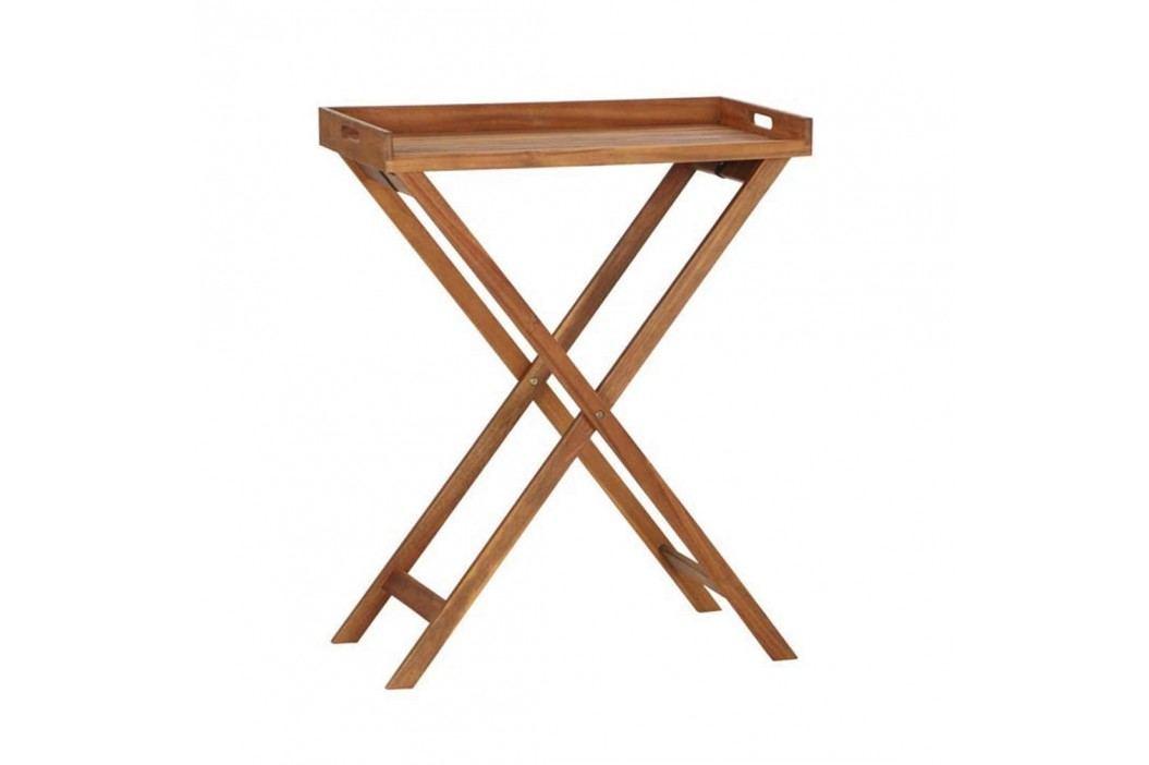 Siena Garden Minera Tabletttisch 80x45x99,5cm Akazienholz Natur Gartentische