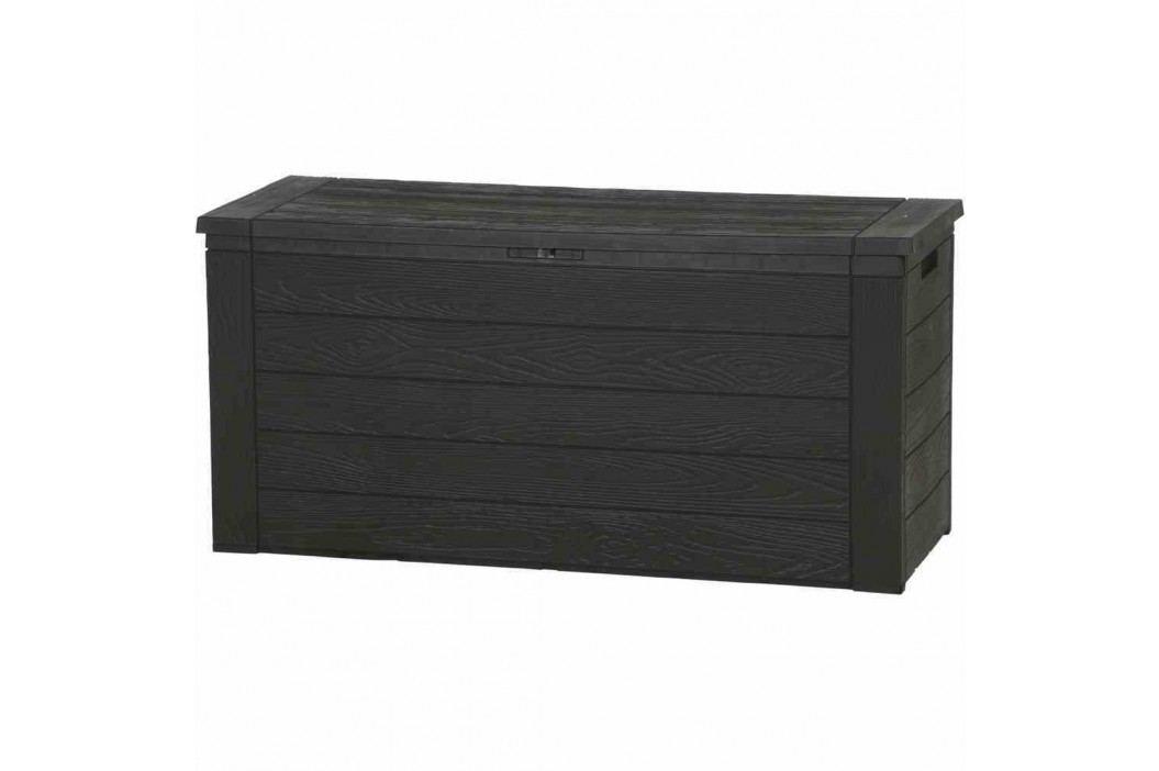 H.G-Deko Woody Kissenbox 120x46x58cm Kunststoff Braun Gartenmöbel