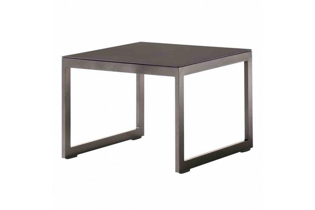 Sieger Sydney Tisch 60x60x44cm Aluminium/Glas Eisengrau Gartentische
