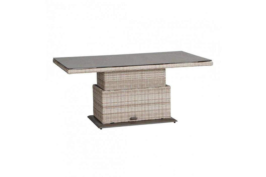 Siena Garden Soria Lifttisch 130x75x45cm Aluminium Latte Gartentische