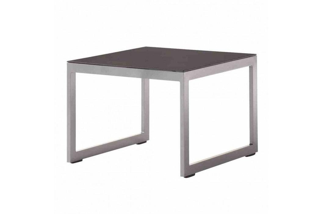 Sieger Melbourne Tisch Ř60cm Aluminium/Glas Eisengrau Gartentische