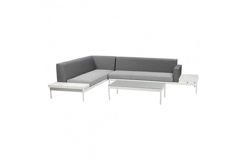 Siena Garden Leana Loungetisch 70x120x34cm Aluminium Weiß Gartentische