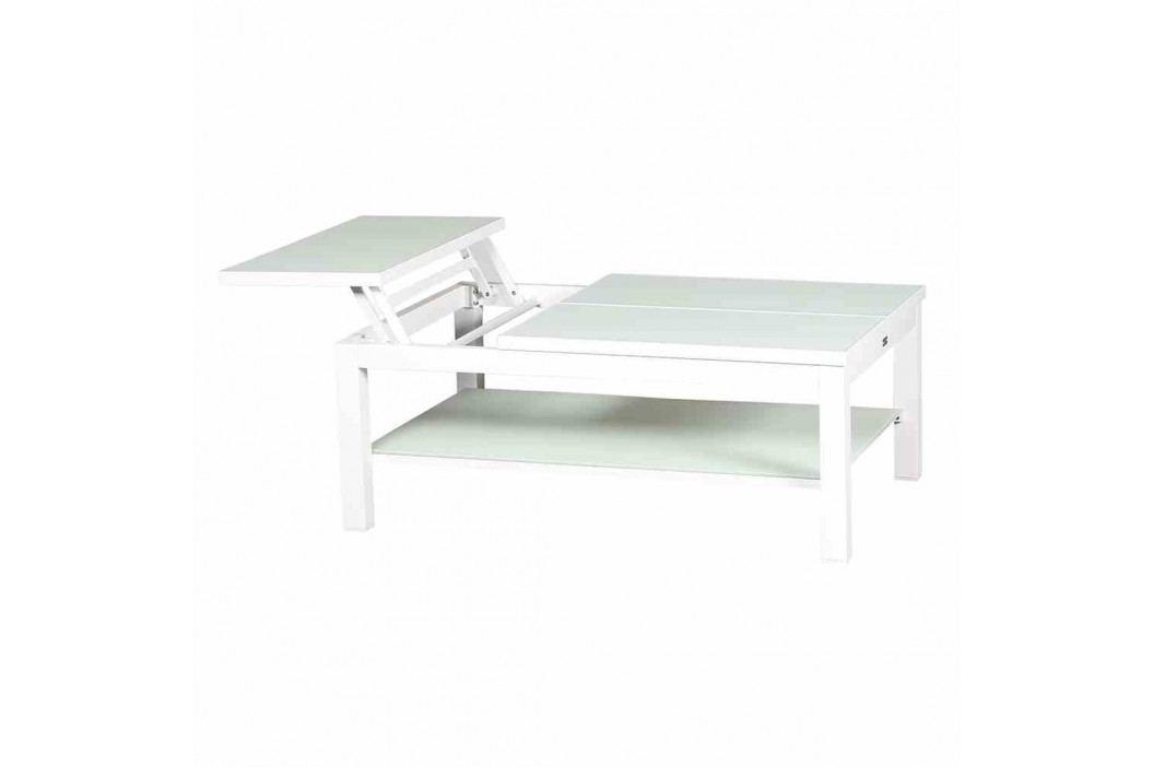 Life Juwel Tisch 108x72x43cm Aluminium Weiß Gartentische