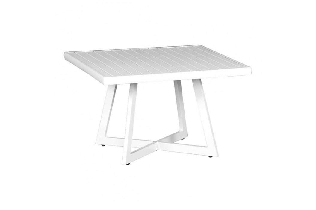 Siena Garden Alexis Tisch 70x70x45cm Aluminium Matt Weiß Gartentische