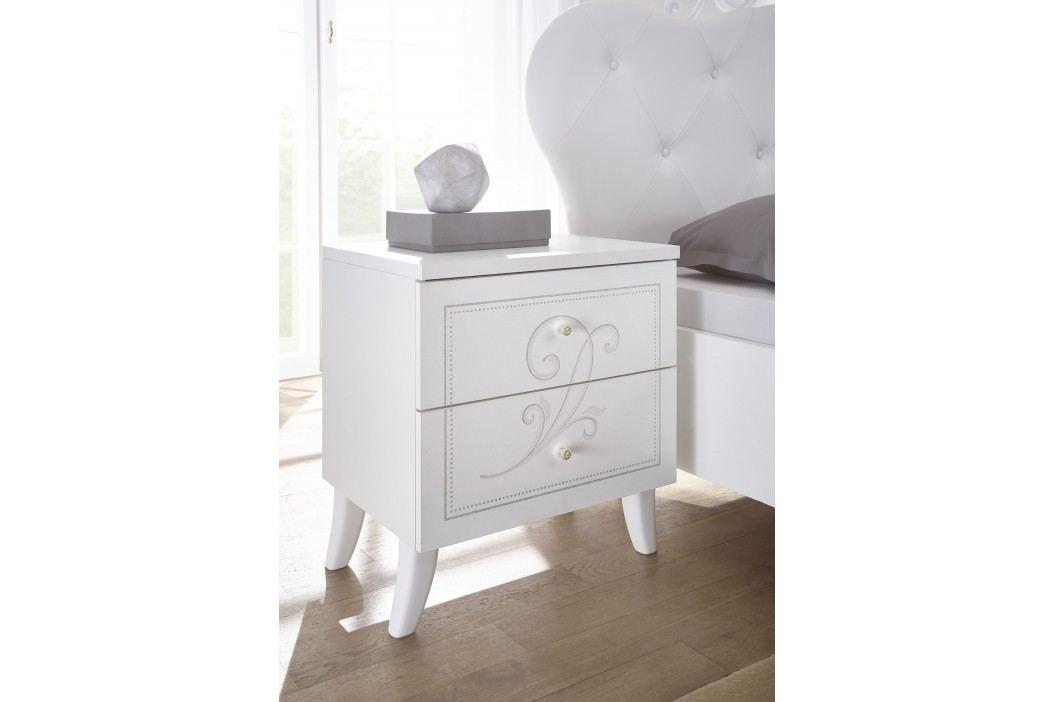 Nachtkommde Weiss Mit Siebdruck Classico Nivea Weiß Holz Modern Nachttische