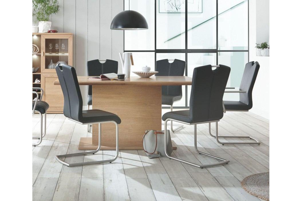 Esstisch 180x100 Cm Eiche Bianco Teilmassiv Geölt Ausziehbar Auf 280 Cm Ideal Möbel Clarissa Massivholz / Holzwerkstoffe Modern Esstische