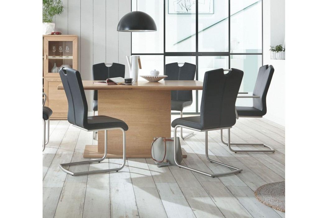 Esstisch 160x100 Cm Eiche Bianco Teilmassiv Geölt Ideal Möbel Clarissa Massivholz / Holzwerkstoffe Modern Esstische
