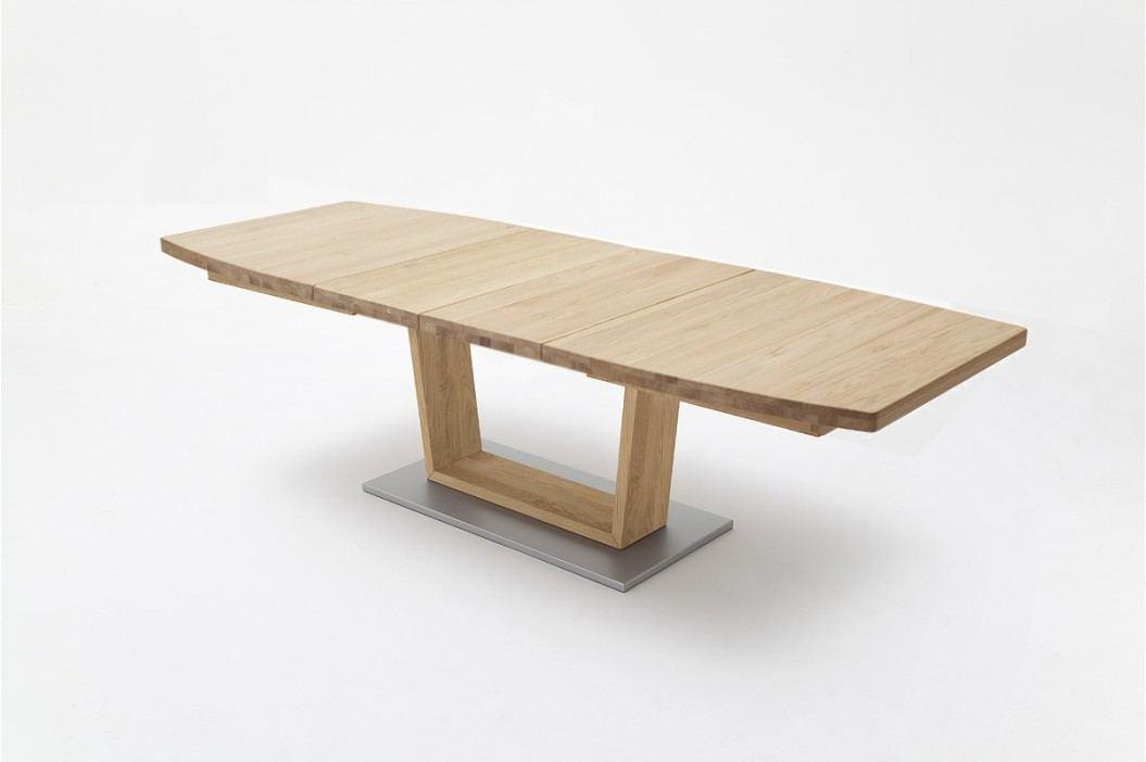 Esstisch 180 X 100 Cm Wildeiche Massiv Geölt Ausziehbar Auf 270 Cm Mca-Furniture Ainatnac Mdf Neutral Esstische