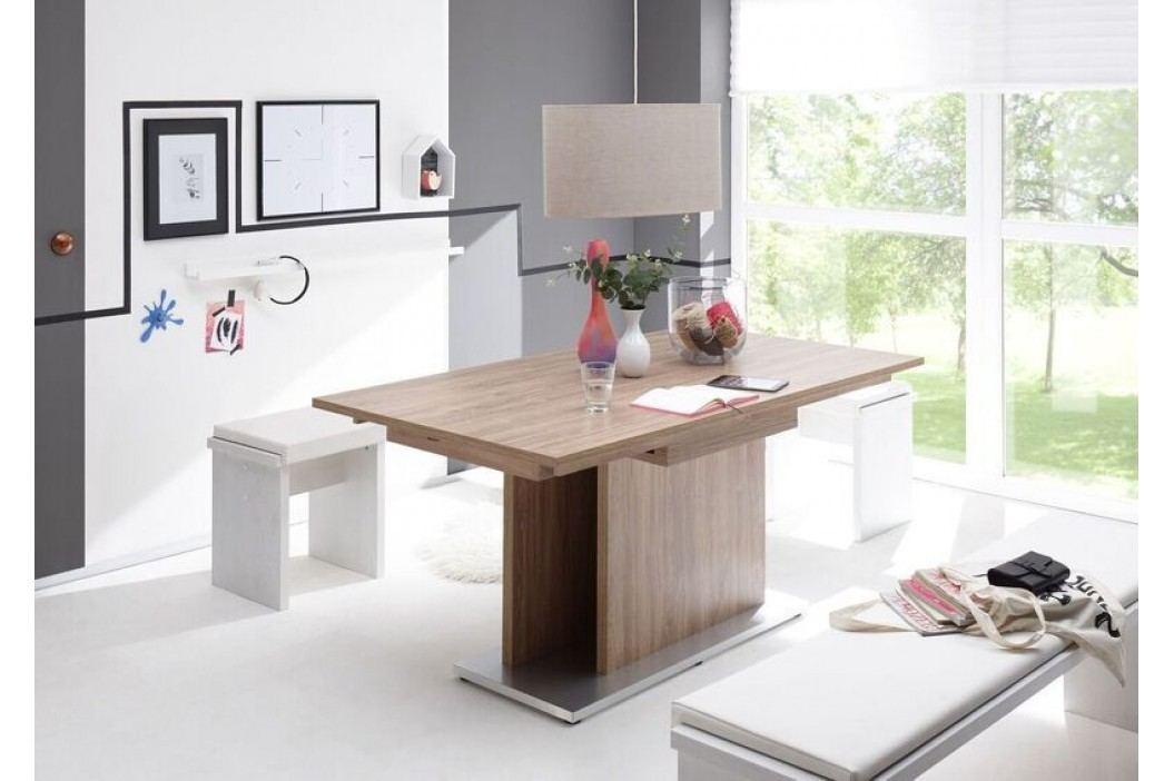 Esstisch 160 X 90 Cm Ausziehbar Stirling Oak/ Edelstahloptik Gerd Mäusbacher Komfort-Tisch 3 Braun Holz Modern Esstische