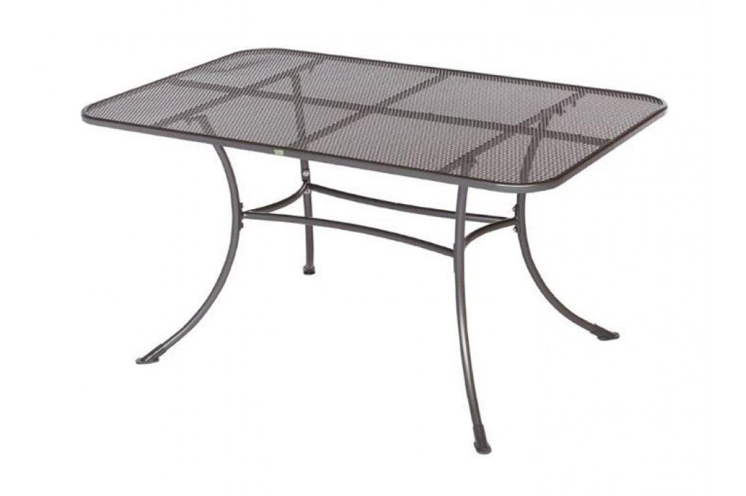 Gartentisch 145 X 90 Cm Grau Frg - Handels Gmbh Rivo Metall Modern Gartentische