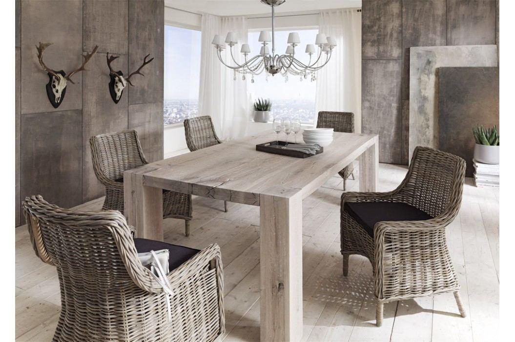 Esstisch 280 X 100 Cm Balkeneiche Massiv White Wash Sit-Möbel Goliath Holz Modern Esstische