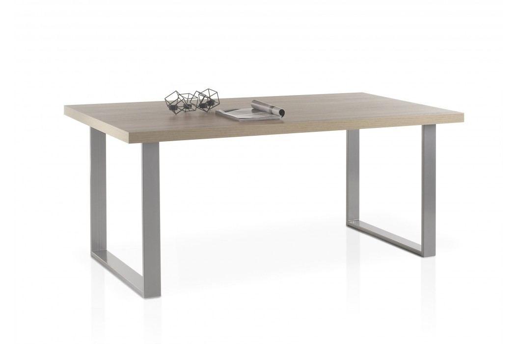 Esstisch 180 X 90 Cm In Eiche Sonoma Mit Gestell Metall Anthrazit Lackiert Stolkom Anka Sonoma-Eiche Holz Modern Esstische