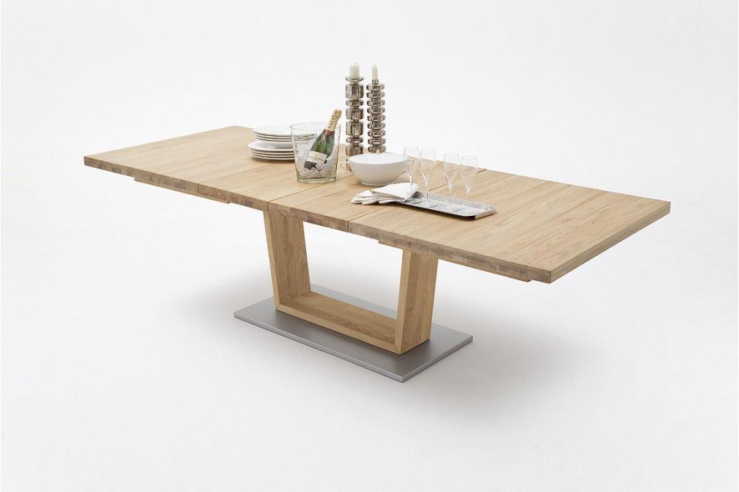 Esstisch 180 X 100 Cm Wildeiche Massiv Geölt Ausziehbar Auf 270 Cm Mca-Furniture Ainatnac Holz Neutral Esstische