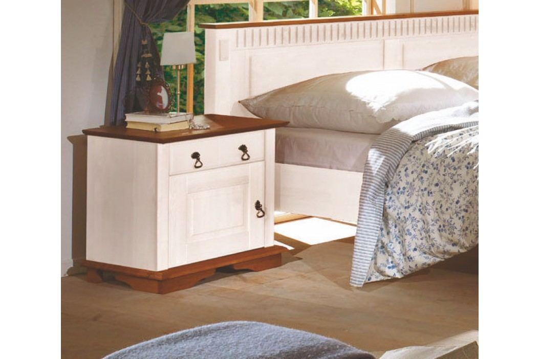 Nachtkommode Pinie Weiss/ Honig Massiv Telmex Valencia Ii Pinie Weiß Holz Landhaus Nachttische