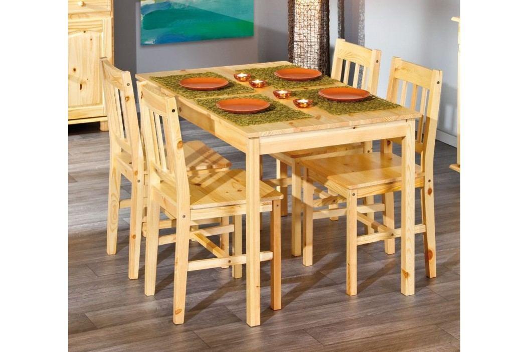 Esstisch Mit Stühlen Kiefer Massiv Natur Lackiert Inter Link Carrel Carolino Holz Neutral Esstische