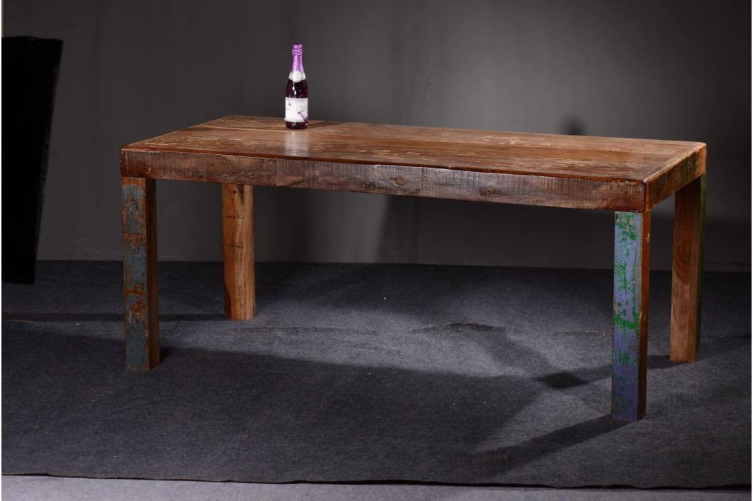 Esstisch 180 X 90 Cm Echt Altholz Bunt Lackiert Sit-Möbel Fridge Vintage Esstische