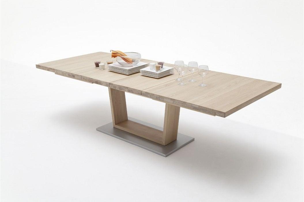Esstisch 140 X 90 Cm Eiche Bianco Massiv Geölt Ausziehbar Auf 220 Cm Mca-Furniture Ainatnac Mdf Neutral Esstische