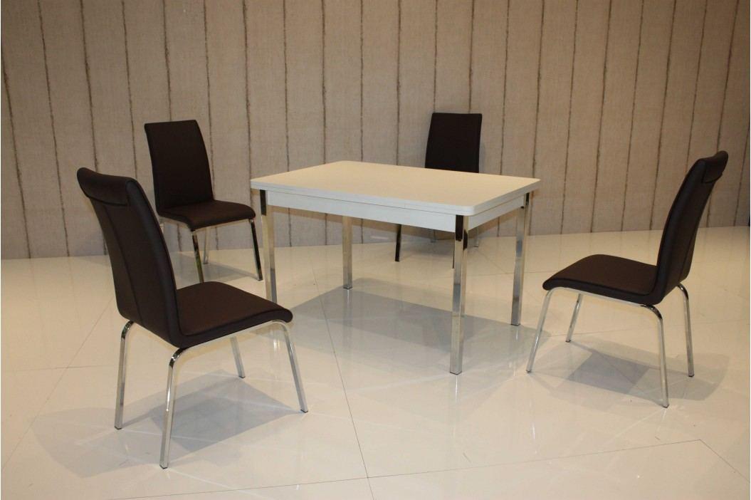 Tischgruppe Weiss/ Schwarz Top Form 2 Annes Weiß Holzwerkstoffe Modern Esstische