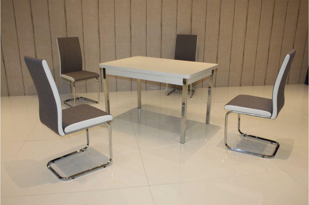 Tischgruppe Weiss/ Braun-Weiss Top Form 2 Assiral Weiß Holz Esstische
