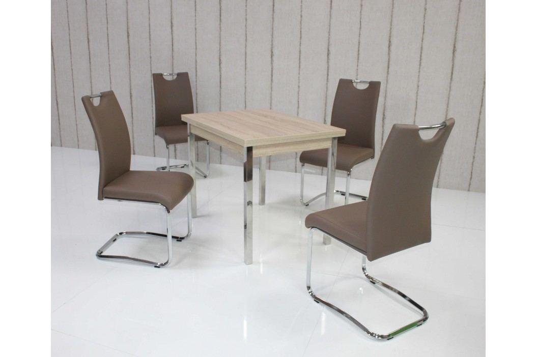 Tischgruppe Eiche Sonoma/ Cappuccino Top Form 5 Aral Eiche Sonoma Sägerau Holz Esstische