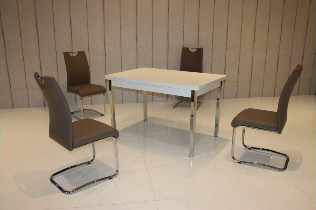 Tischgruppe Weiss/ Cappucino Top Form 2 Aral Weiß Holz Esstische