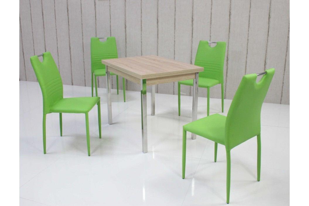 Tischgruppe Eiche Sonoma/ Mintgrün Top Form 5 Ainex Holzwerkstoffe Stylisch Esstische