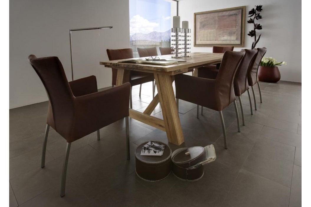 Esstisch 220 X 110 Cm In Balkeineiche Massiv Geölt Sit-Möbel Wiking Modern Esstische