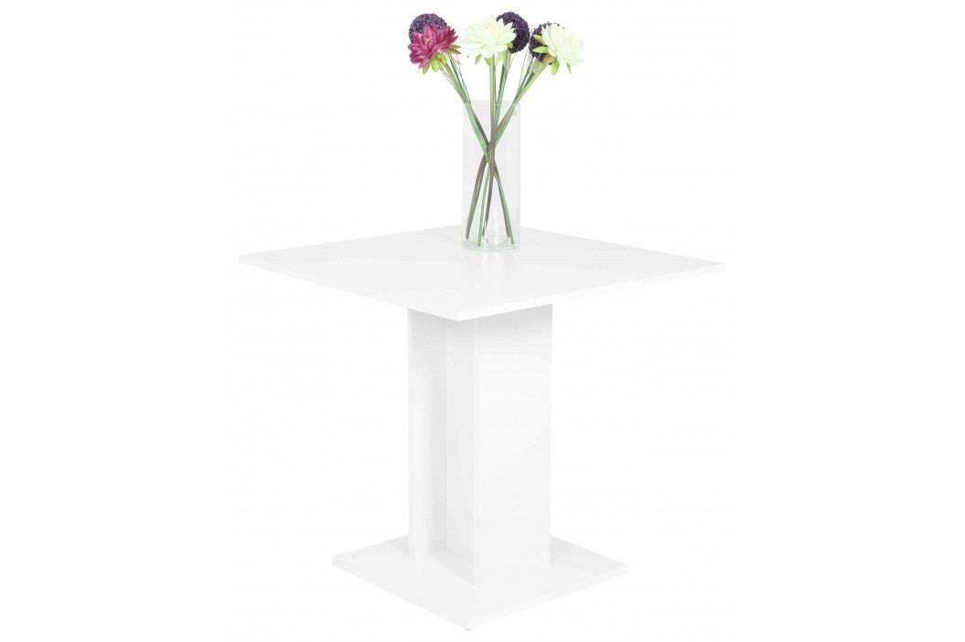 Esstisch/ Säulentisch 80 X 80 Cm Weiss Nachbildung Hela Mandy T Weiß Holz Modern Esstische