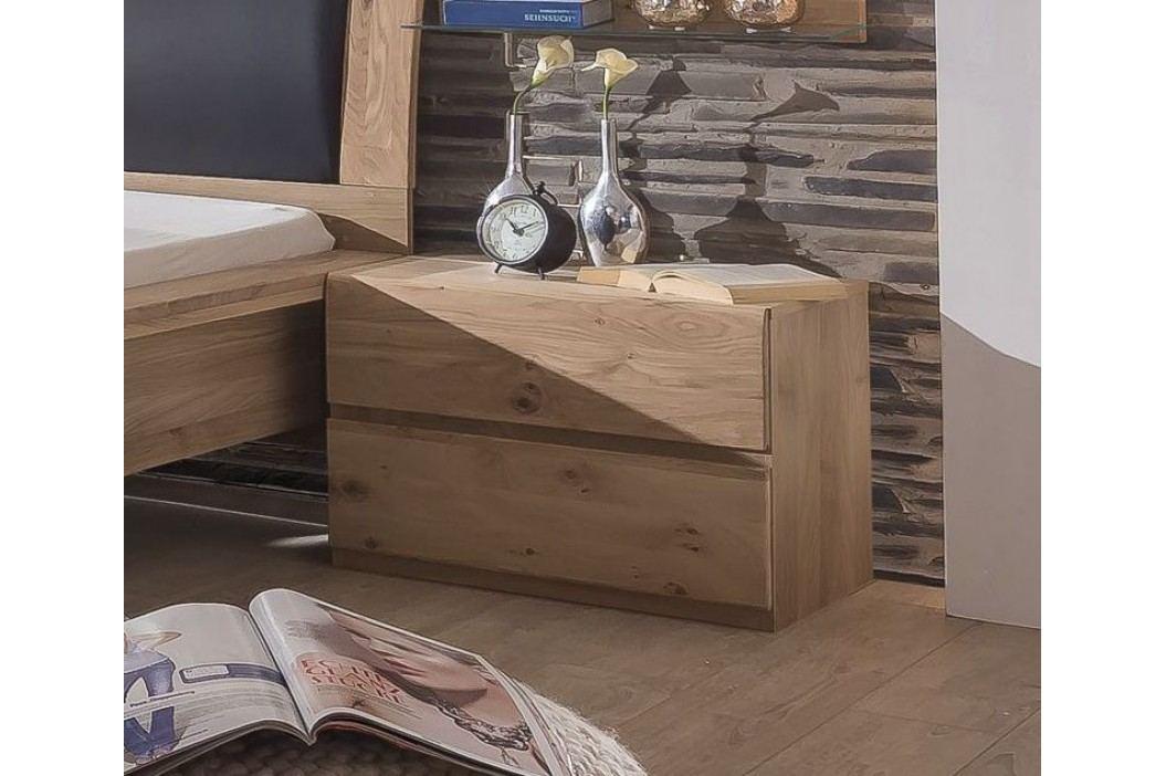 Nachtkommode Asteiche Bianco Teilmassiv Telmex Ottawa Holz Modern Nachttische