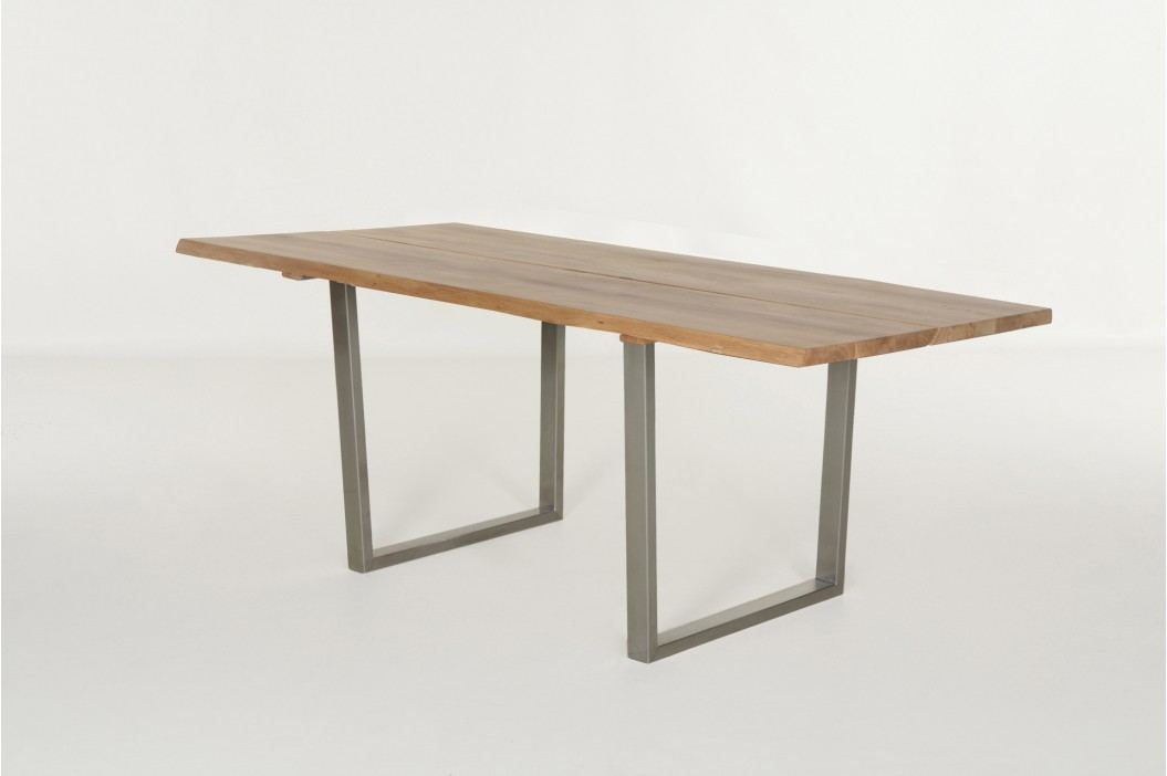 Esstisch 200 X 100 Cm In Eiche Massiv Baumoptik Standard Furniture Tavoli Holz Modern Esstische