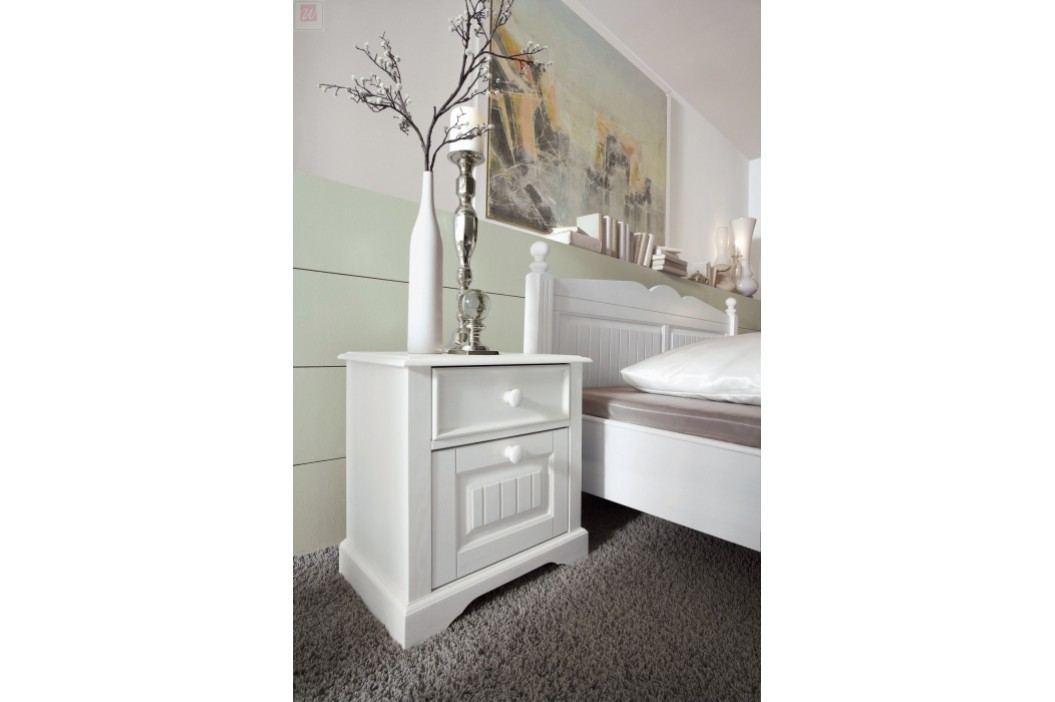 Nachtkommode Kiefer Teilmassiv Weiß Schlafkontor Cinderella Landhaus Nachttische
