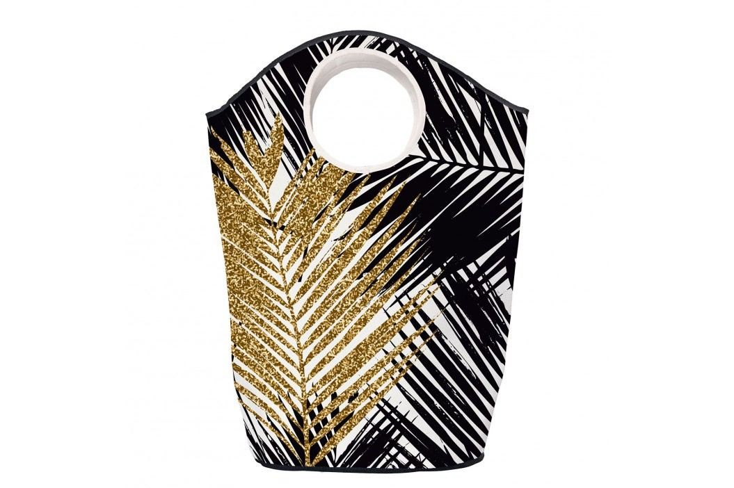 Wäschesammler Gold Leaf - Webstoff - Schwarz / Gold, Butter Kings Kleideraufbewahrung