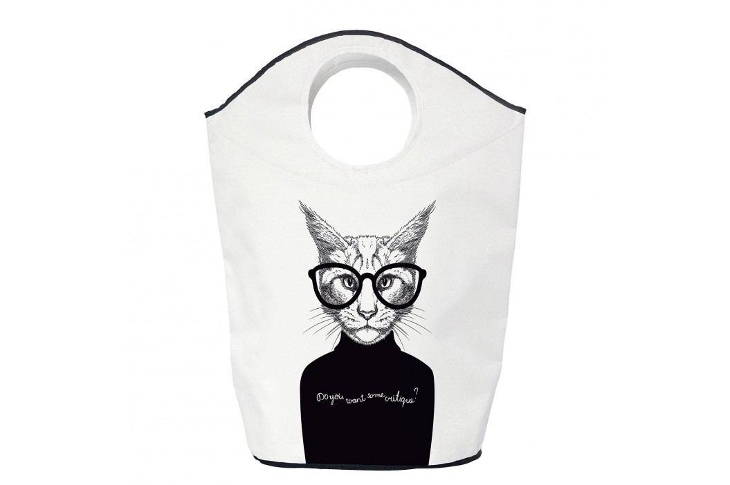 Wäschesammler Critique Cat - Webstoff - Schwarz / Weiß, Butter Kings Kleideraufbewahrung