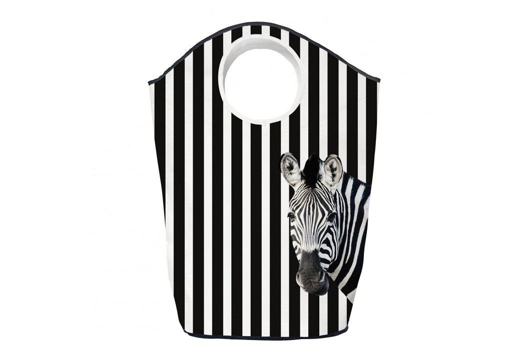 Wäschesammler Many Stripes - Webstoff - Schwarz / Weiß, Butter Kings Kleideraufbewahrung