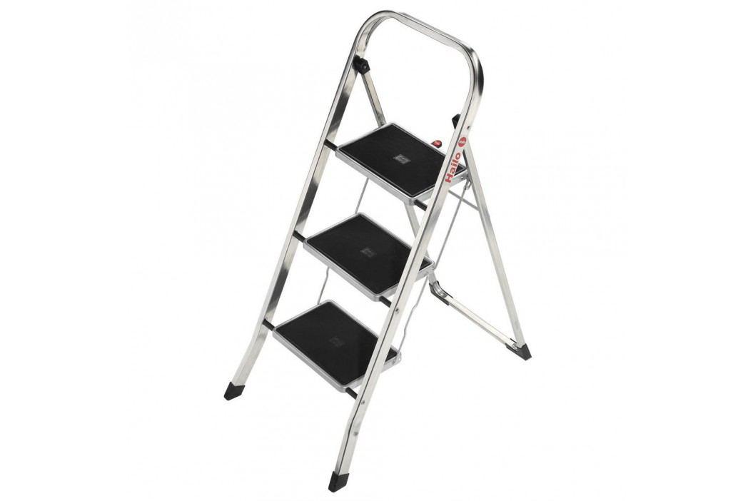 Hailo Klapptritt K30, Aluminium, 3 Stufen, Länge maximal: 2,46 m, Tragfähigkeit: 150 kg, silber Werkzeug