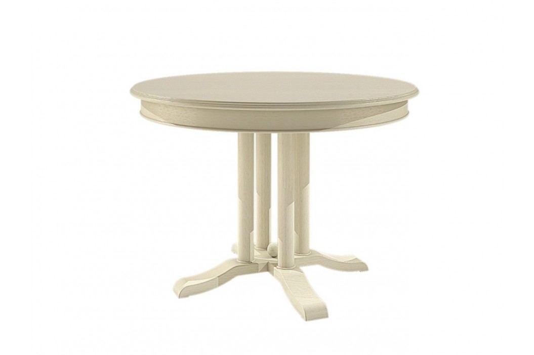 Esstisch rund mit Klappeinlage Allegro Pinie massiv, Pinie honig Esstische