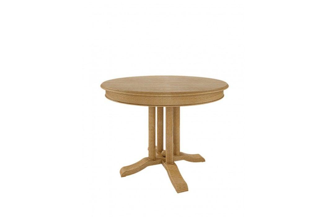 Esstisch rund mit Klappeinlage Allegro Pinie massiv, Pinie karamell Esstische