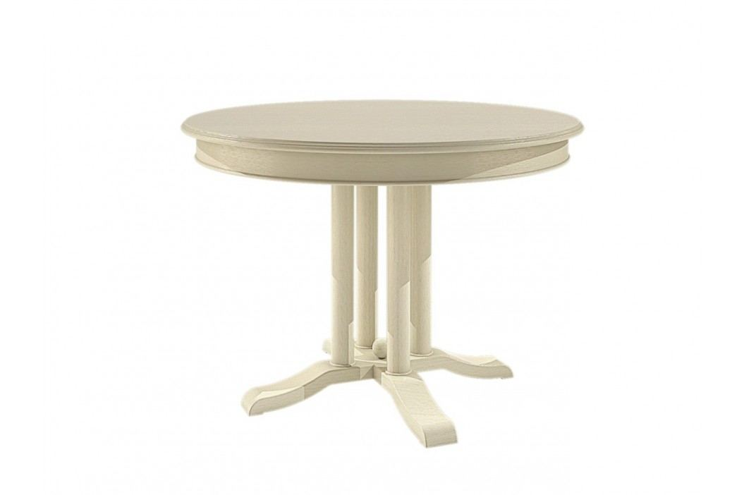 Esstisch rund mit Klappeinlage Allegro Pinie massiv, Pinie vintage Esstische