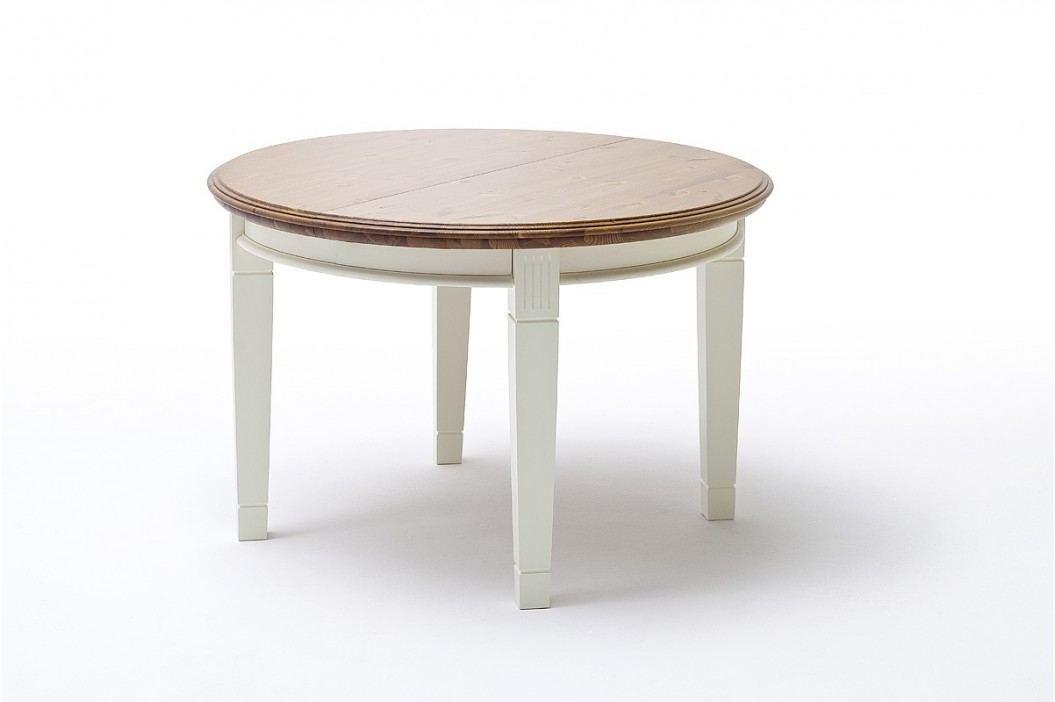 Ess-Tisch Padua rund Ø 120 cm ausziehbar - 159 cm, panna Absetzung sierra ohne Auszug Esstische