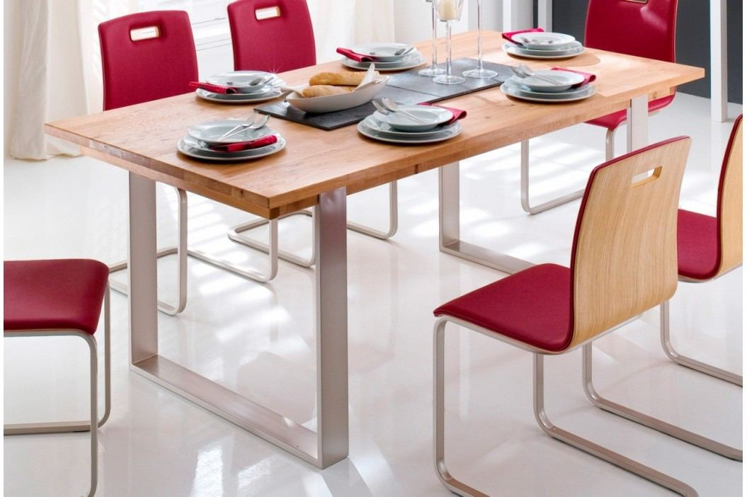 Kufentisch Boston 140 - 220 cm breit Wildeiche geölt, 160 cm + 60 cm Esstische